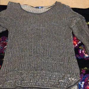 Vera wang Petite large black tunic sweater